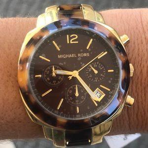 Beautiful Michael Kors Gold Turtle Shell Watch!!
